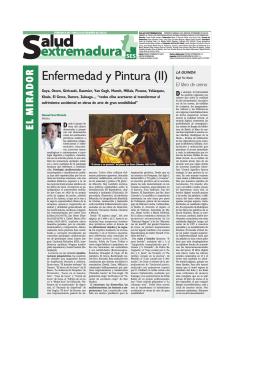 Enfermedad y Pintura (II) - Periódico del Servicio Extremeño de Salud