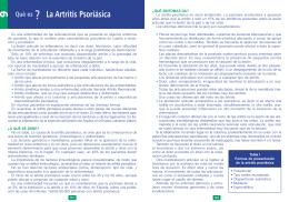 La Artritis Psoriásica - Clínica Reumatológica Dr.Antonio Ponce