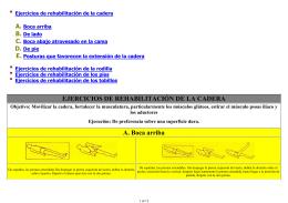 EJERCICIOS DE REHABILITACIÓN DE LA CADERA A - CTO