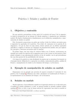 Práctica 1: Se˜nales y análisis de Fourier