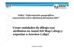 Crear entidades de dibujo con atributos en AutoCAD Map (.dwg) y
