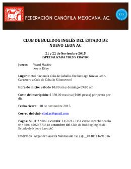 CLUB DE BULLDOG INGLÉS DEL ESTADO DE NUEVO LEON AC