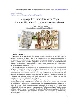 La égloga I de Garc y la mortificación de los La égloga I de