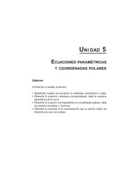 uni dad 5 ecuaciones paramétricas y coordenadas polares