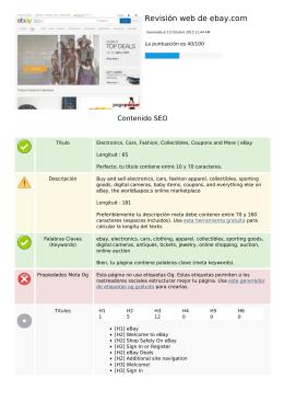 Revisión web de ebay.com