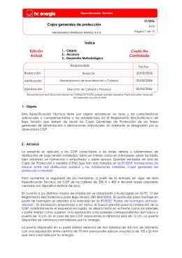 Cajas generales de protección Edición Actual Copia No Controlada