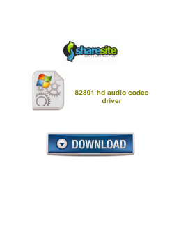 82801 hd audio codec driver