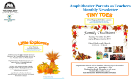 Amphitheater Parents as Teachers Monthly Newsletter