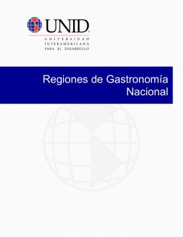 Regiones de Gastronomía Nacional