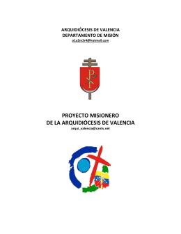 Proyecto Misionero Arquidiócesis de Valencia