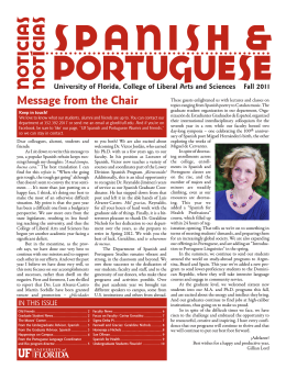 Fall 2011 - Spanish and Portuguese Studies