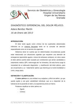 Diagnóstico diferencial del dolor pélvico