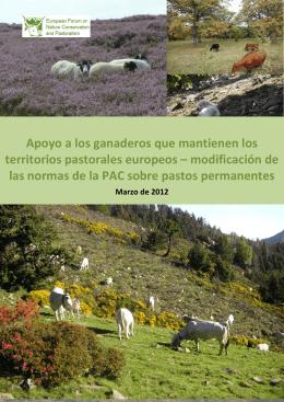EFNCP. Apoyo a los ganaderos que mantienen los territorios