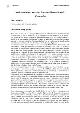 Ideología de la representación y Representación de la