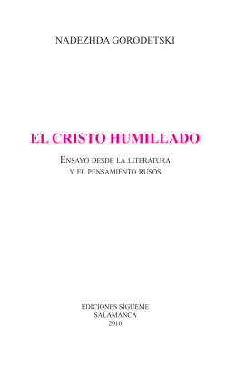 EL CRISTO HUMILLADO