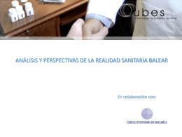 ANÁLISIS Y PERSPECTIVAS DE LA REALIDAD SANITARIA BALEAR
