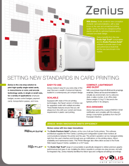 SETTING NEW STANDARDS IN CARD PRINTING