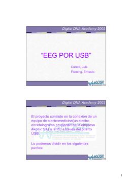 """""""EEG POR USB"""""""