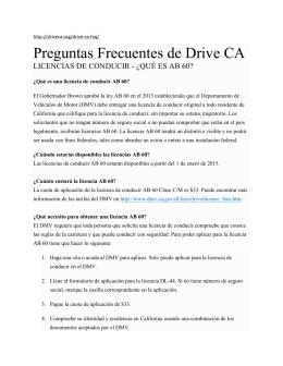 Preguntas Frecuentes de Drive CA