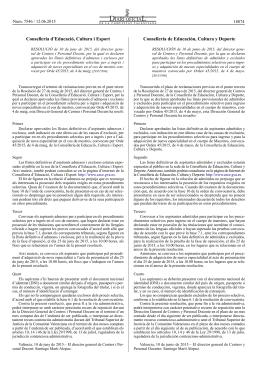 Resolució - Conselleria d`Educació