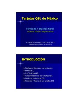 Tarjetas QSL de México