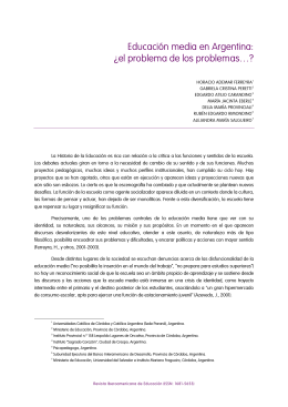 Educación media en Argentina: ¿el problema de los problemas…?