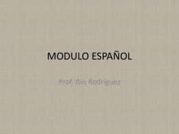 MODULO ESPAÑOL