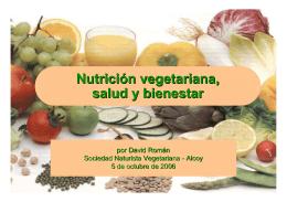 Nutrición vegetariana, salud y bienestar
