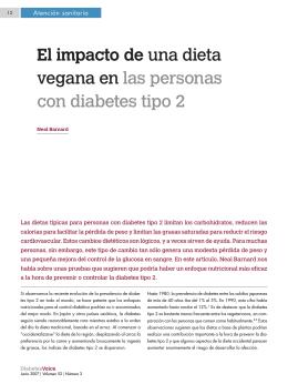 El impacto de una dieta vegana en las personas con diabetes tipo 2