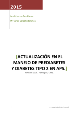 actualizacion en el manejo de prediabetes y diabetes tipo 2 en aps.