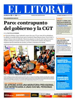 Paro: contrapunto del gobierno y la CGT