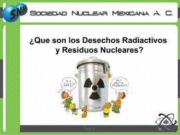 ¿Qué son los residuos radioactivos?