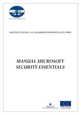 Microsoft Security Essential - Asistencia Técnica a la Seguridad en
