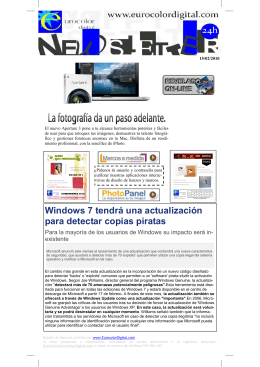 Windows 7 tendrá una actualización para detectar copias piratas