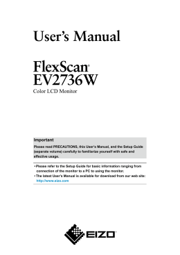 FlexScan EV2736W User`s Manual