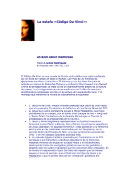 La estafa «Código Da Vinci»: