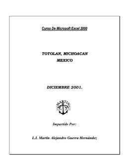 Manual de Microsoft Excel 2000