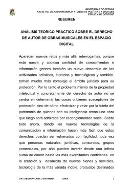 RESUMEN ANÁLISIS TEÓRICO PRÁCTICO SOBRE EL DERECHO