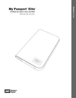 My Passport™ Elite™ Unidad de disco duro portátil