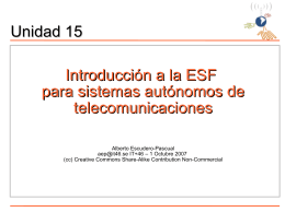 Introducción a la ESF para sistemas autónomos de