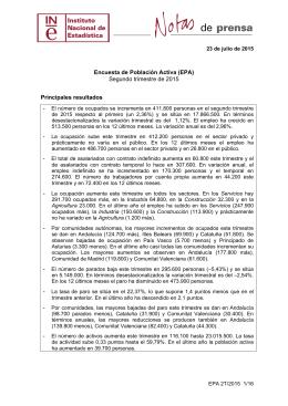 Encuesta de Población Activa - Instituto Nacional de Estadística