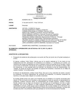 No. 005-13 - Universidad Nacional de Colombia
