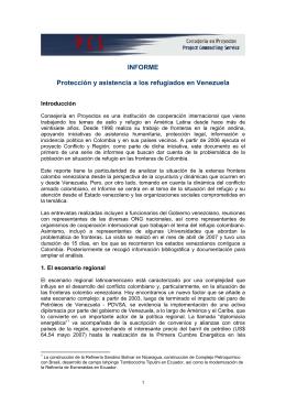 INFORME Protección y asistencia a los refugiados en Venezuela