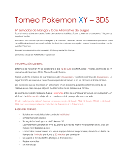 Torneo Pokemon XY – 3DS