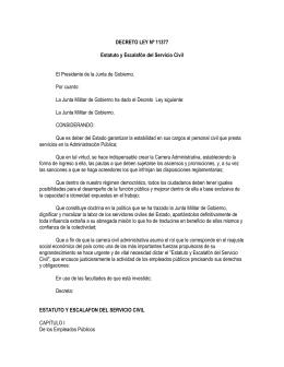 DECRETO LEY Nº 11377 Estatuto y Escalafón del Servicio Civil El