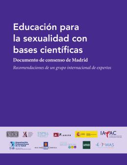 Educación para la sexualidad con bases científicas: Documento de