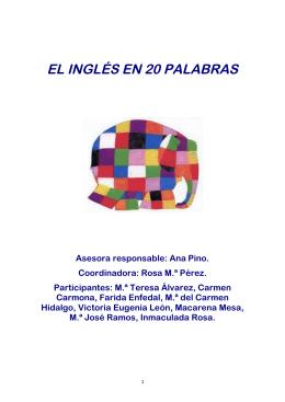 EL INGLÉS EN 20 PALABRAS