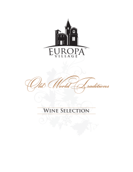 Wine Selection - Europa Village