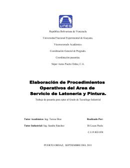 República Bolivariana de Venezuela Universidad Nacional