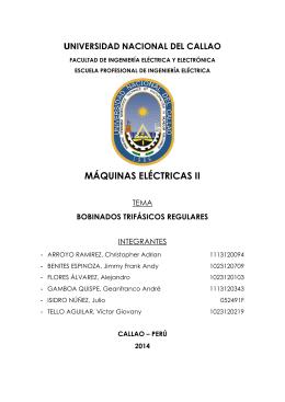 MÁQUINAS ELÉCTRICAS II